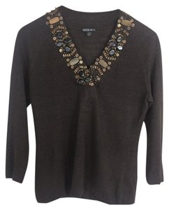 Lafayette 148 New York Linen Embellished Sweater
