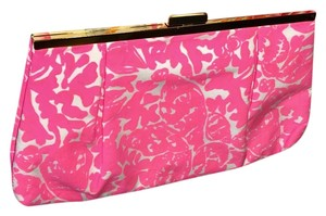 Lilly Pulitzer Bright Beach Resort Neon Pink Clutch