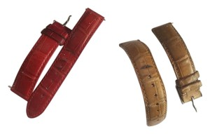 Michele Red or Beige or both Alligator watch straps for Michele Deco watch