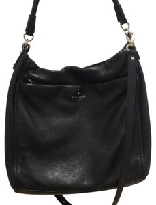 Kate Spade Crossbody Leather Gold Hardware Satchel in Black