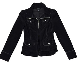 White House | Black Market Velvet Black Jacket