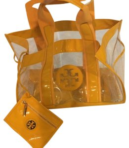 Tory Burch Satchel in Clear And Yellow