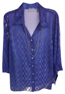 Alfred Dunner 3-in-1 Necklace Camisole Top blue