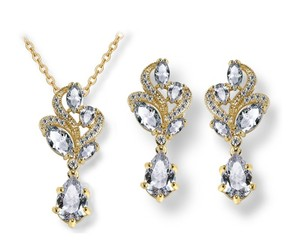 Other Tear Drop CZ Bridal Wedding Jewelry Set / Gold Plated