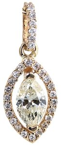 ABC Jewelry 14Kt yellow gold pendant 22 x 8.5mm set with center .70ct marquise