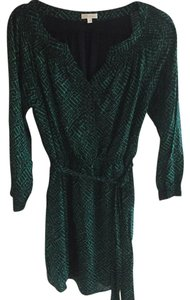 Shoshanna short dress Navy and green on Tradesy