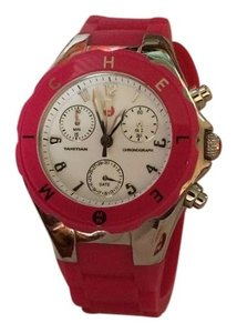 Michele Michele Jelly Bean Silver with White Watch