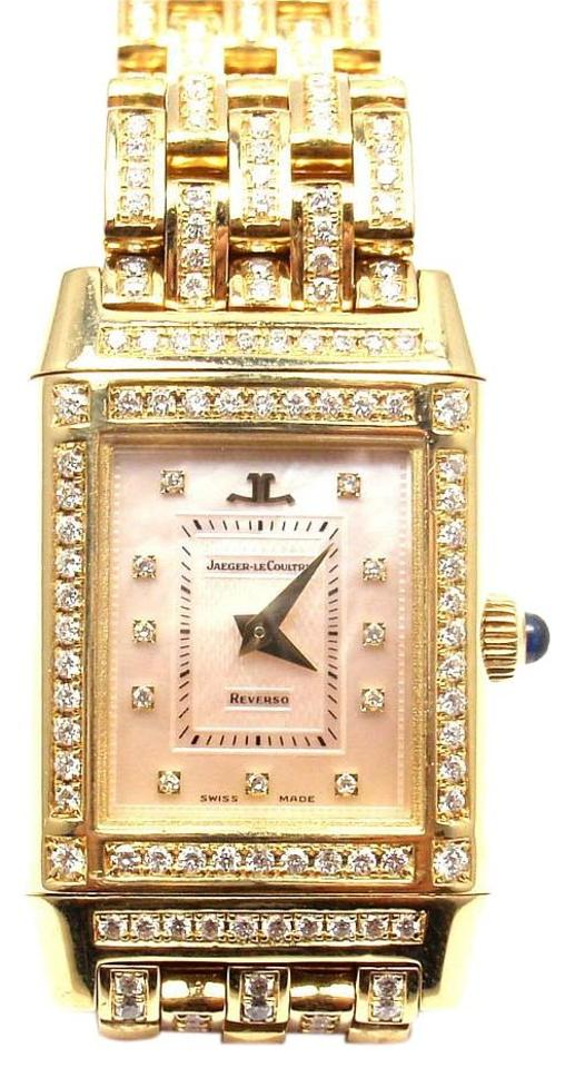 06a1339680ee Jaeger-LeCoultre Jaeger-Lecoultre Reverso 18k Yellow Gold Diamond Watch  Image 0 ...