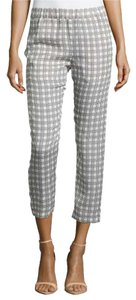 Theory Silk Lounge Relaxed Pants Black / White Apparent Check Print