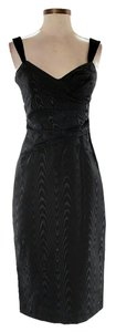 Vera Wang Textured Sweetheart Shift Sheath Dress