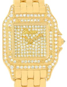 Cartier Cartier Panthere Ladies 18k Yellow Gold Pave Diamond Watch