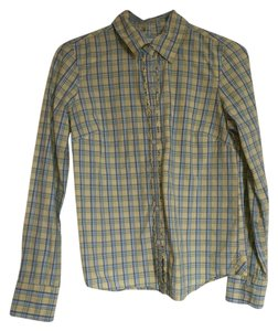 Aéropostale Button Down Shirt yellow, blue, white
