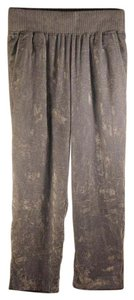 Maje Crushed Velvet Elastic Waistband Blue Trendy Paris Relaxed Pants Ice Blue