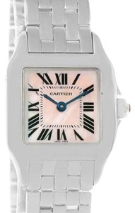 Cartier Cartier Santos Demoiselle Mother Of Pearl Watch W25075Z5 Box Papers