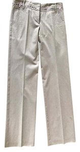 BCBGMAXAZRIA Made In Moldova Straight Pants Beige