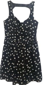 Aqua short dress Black & White on Tradesy