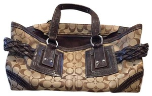 Coach Tote in Brown And Taupe
