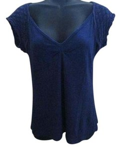 Anthropologie Knit Spring Summer Casual Top Blue