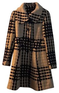 Express Winter Long Vintage Plaid Trench Coat