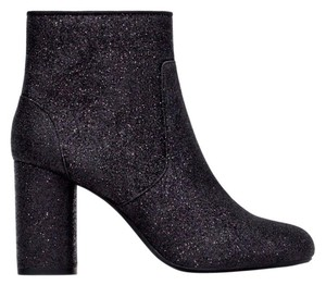 Zara Glitter Boot Bootie Holiday Black Boots