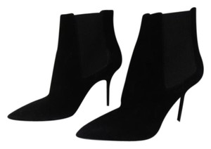Burberry New Without Box Suede Ankle Stilletto Heel black Boots