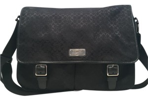 Coach Messenger College Work Black Messenger Bag