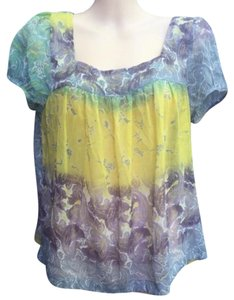 Jessica Simpson Top Purple Yellow Blue