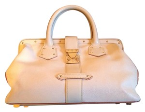 Louis Vuitton Leather Rare Tote in white