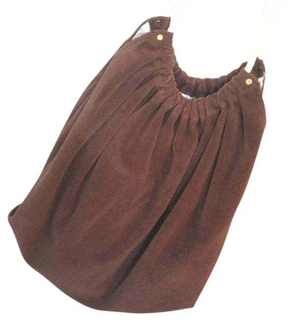 Item - Brown Terrycloth Beach Bag
