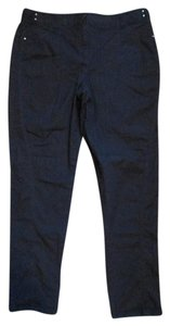 Chico's Casual Denim Tapered Straight Pants Black