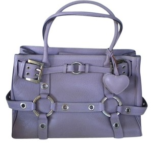 Luella Lavender Satchel Large Hardware Runway Tote in Lilac,Lavender, Light purple