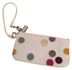 Coach Wristlet in White