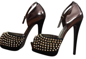 Steve Madden Black with bronze and metal accents Platforms