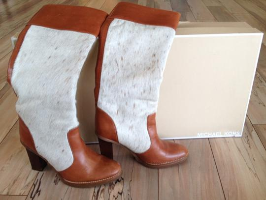 Michael Kors Tan and Ivory Boots
