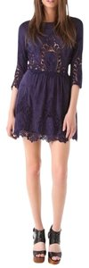 Dolce Vita short dress Purple Petticoat Embroidery Classic Fit N Flare Dv Valentina Lace Dark New on Tradesy