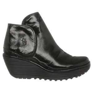 London Fly Black Patent Leather Boots