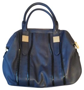 Big Buddha Satchel in Black And Blue