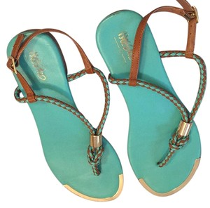 Mossimo Supply Co. Brown and Teal Sandals