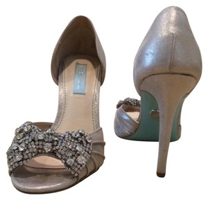 Betsey Johnson Silver with blue botton Formal