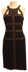 BCBGMAXAZRIA Bcbg Falcon Studded Striking Fitted Dress