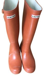 Hunter Rain Burnt Orange Boots