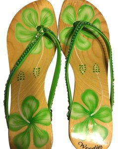 Woodies Lime green Sandals