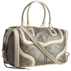 Rebecca Minkoff Satchel in Pearlized Grey