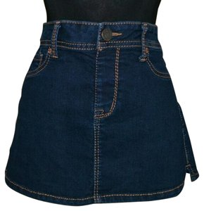2bwu Denim Jean Jean Mini Skirt blue