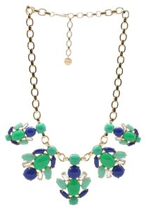 Stella & Dot New Stella & Dot Statement Green Blue Rhinestone Necklace