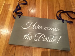 Ring Bearer Sign - Here Comes The Bride