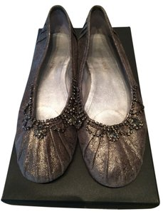 BCBGMAXAZRIA Beaded Grey Flats