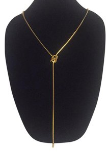 Michael Kors Nwt Michael Kors Gold Tone Long Snake Chain Lariat Necklace 22