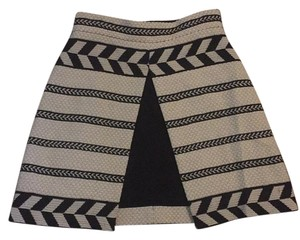 Alice + Olivia Mini Skirt Cream/black