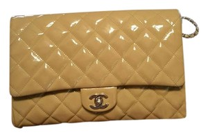 Chanel Ivory Leather Beige Clutch